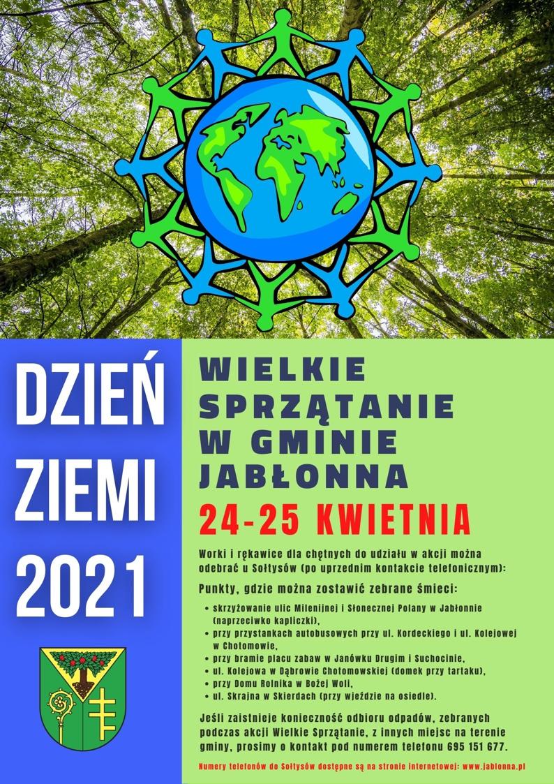 Plakat informujący o akcji Wielkie Sprzatanie